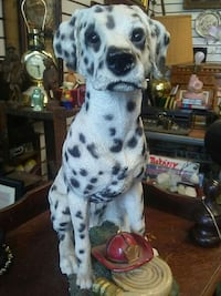 white and black Dalmatian ceramic dog figurine