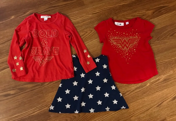 dc51f44a3 Used Gap Girls 4t Junk Food Wonder Women Long Sleeve   Gap Short ...