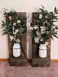 Farmhouse Wall Flower Holders Decoration