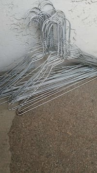 gray metal clothes hanger lot Sunnyvale