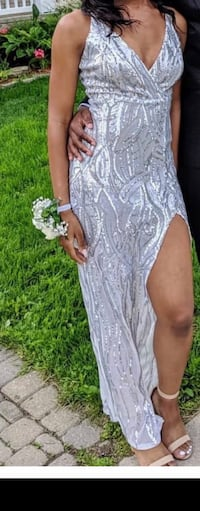 Formal silver dress Brampton