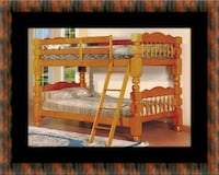 Wooden twin bunkbed frame with 2 mattress East Riverdale