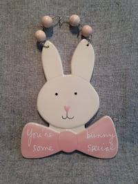 Bunny Wall Plaque with a Saying MCDONOUGH