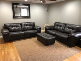 2 couches and matching ottoman