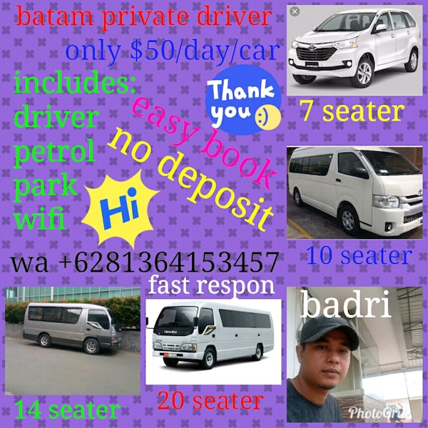 Batam private driver