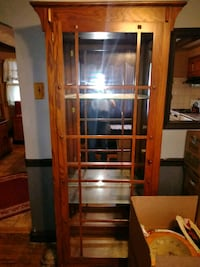 Living room cabinet  7ft tall needs only front glass.