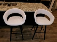 Two white-and-black padded bar stools Waldorf, 20601