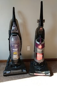 One eureka and one Bissell vaccum