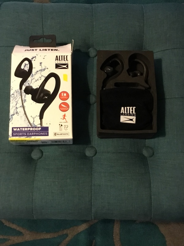 the latest 35268 0c931 ALTEC Lansing MZX499 Waterproof Sports Earphones *New-Never Used-OpenBox*