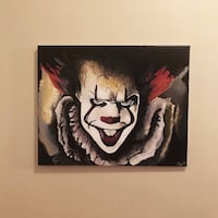 It 'Pennywise' Original Painting! Art! Canvas! Charlotte, 28269