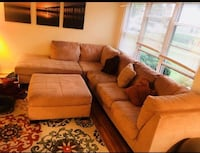 Beige sectional, price negotiable. Pick up only Brick, 08724