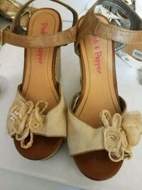 pair of brown leather open-toe sandals 19 mi