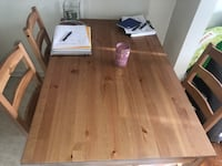 Table and 4 chairs in great condition null, 11105