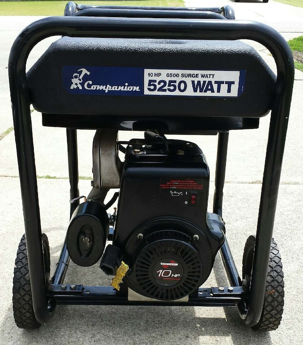 companion 10 hp 5250 watt generator manual