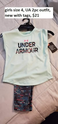 UA outfit new girls size 4