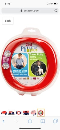 Travel Potette and 2 Sesame Streets Toddler Potty Seats