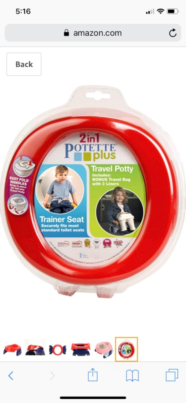 Travel Potette and 2 Sesame Streets Toddler Potty Seats 91779240-1ab7-4f7f-a3d6-73027263f03c