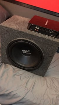 12 in subwoofer with 600 watt amp 242 mi