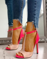BRAND NEW PINK HEELS - TALONS COULEURS ROSES - SIZE 7US EUR38 Laval, H7P 1Z7