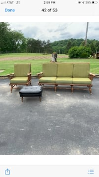 Matching chair and bench couch , ethan allen brand, sturdy,