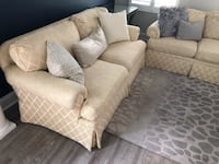 Custom Ivory Couch and Loveseat Bethesda