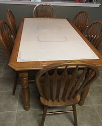 Oak table with tile top and 6 chairs  San Antonio, 78254