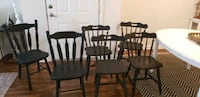 6 black distressed dinning chairs farmhouse