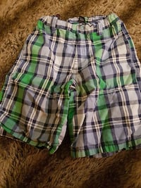 green, white, and black plaid shorts toddler Winnipeg, R3E