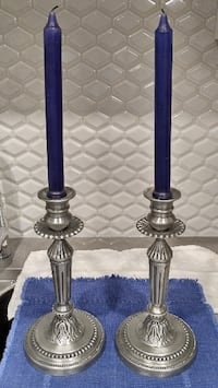 Elaborate Candlesticks. Pair,  Abbotsford