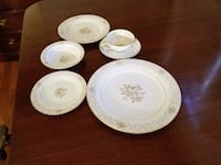 White china plates and bowls Lochearn