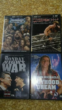 Wwe dvds all for 8