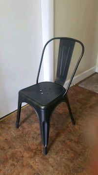 """Metal Chair with gold brush strokes. Height 33""""  Somerville, 02143"""