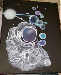 Astronaut painting