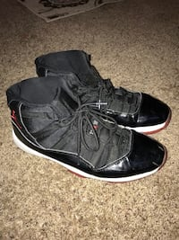 pair of black-and-white Air Jordan 11 Bred shoes Lincoln, 68507