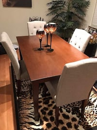 rectangular brown wooden table with four chairs dining set Columbia, 21044