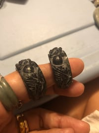 Black stone ring each $35 Melbourne, 32901