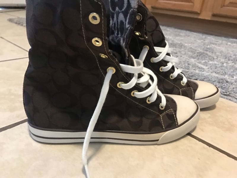 Coach High Top Fold over Sneakers 3
