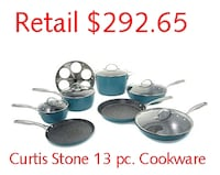 Curtis Stone Dura-Pan Nonstick 13-piece Cookware Set Lanham