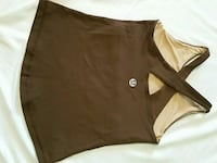Chocolate lululemon workout tank with cross back