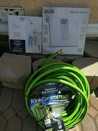 3 items $25#Scale#Shower Cabby#50ft. Water Hose