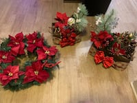 Christmas center pieces and wreath  Rockville, 20850