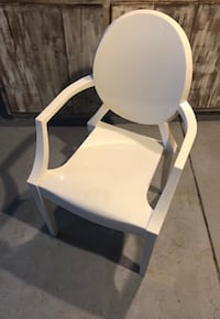 white and gray metal armchair Los Angeles, 91303