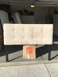 Queen size Tufted ivory padded suede headboard Las Vegas, 89135