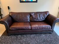 brown leather 3-seat sofa Naperville, 60563