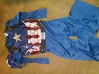 Boys Captain America Costume with Mask Liverpool, 13090