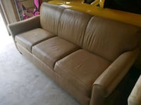brown leather 3-seat sofa Manassas