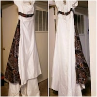 Wedding dress worn once been in closet since  Oklahoma City, 73139