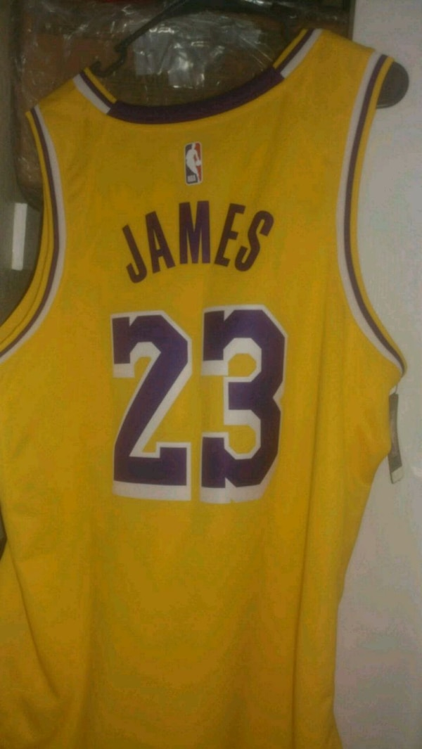 uk availability 82770 d154a LeBron James Lakers Jersey