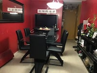 Dining set with 6 chairs (purchased for $1,300) Toronto, M9R 3Z1