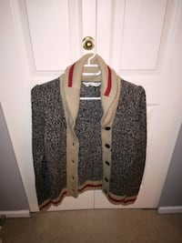 women's black and brown knit button-up cardigan Langley, V1M 1T5